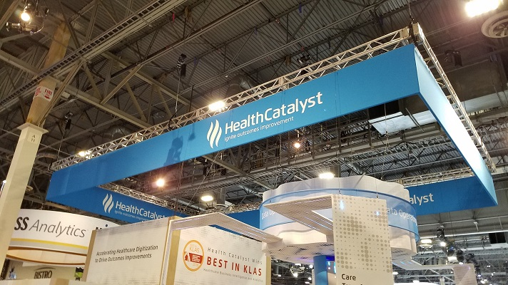 Health Catalyst booth at HIMSS Global Conference