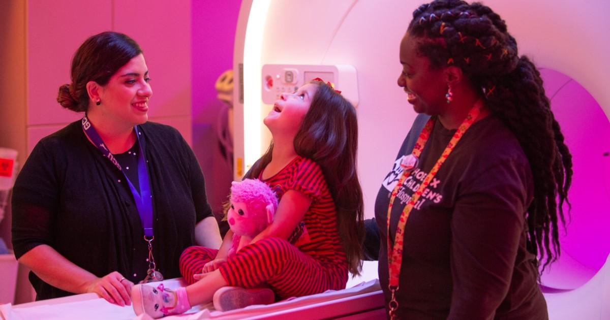 Phoenix Children's Hospital's PET CT ambient experience