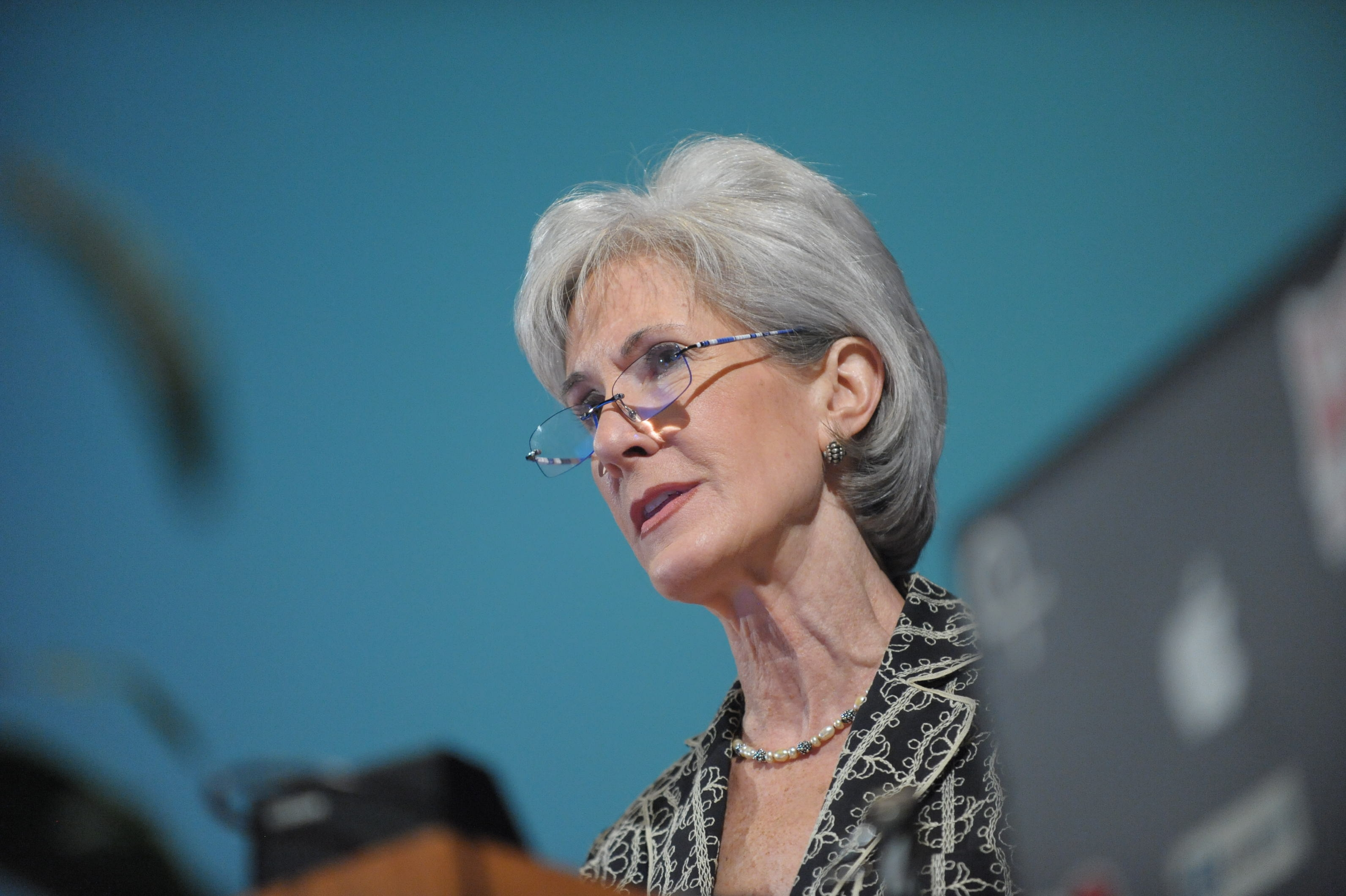 HHS Secretary Kathleen Sebelius resigns after five years.