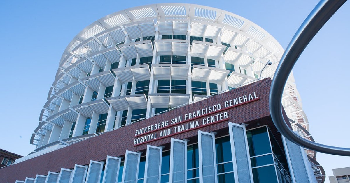 Zuckerberg San Francisco General Hospital and Trauma Center building with sign