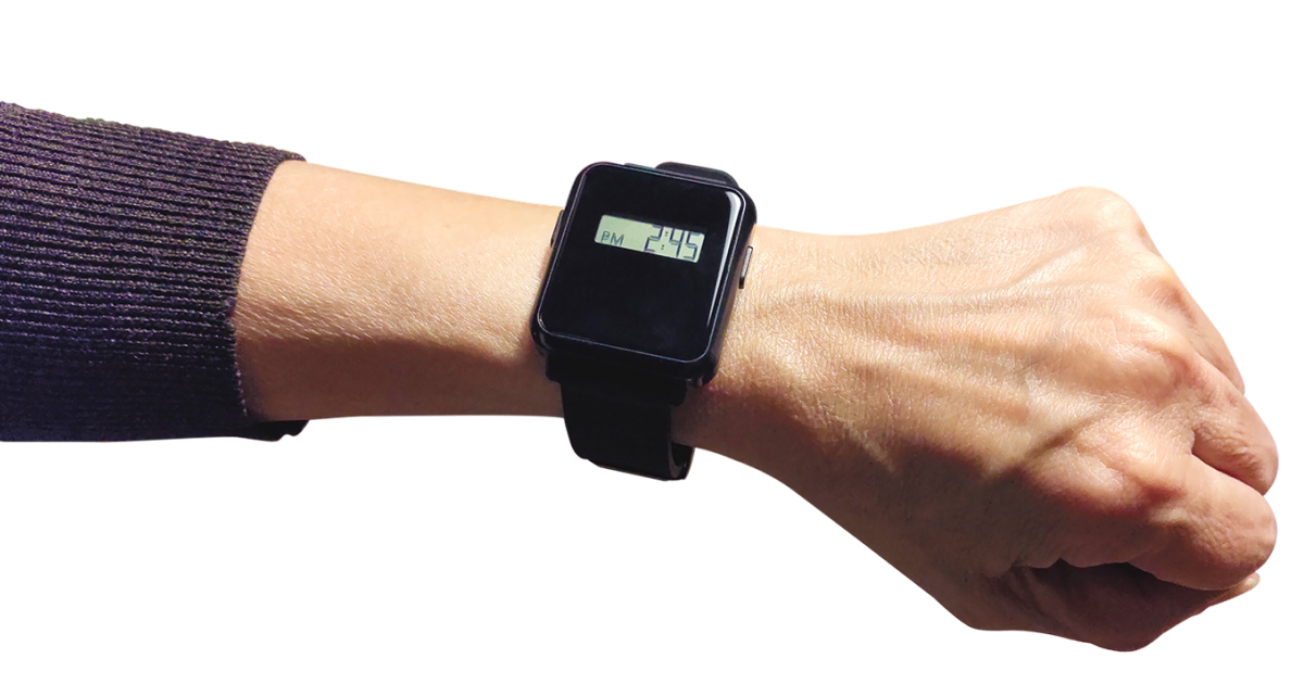 Tracmo CareActive Watch wearable for dementia worn on wrist