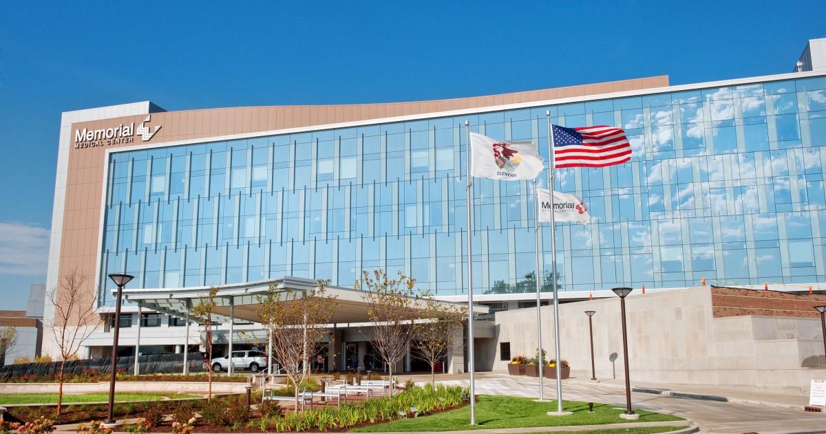 Memorial Medical Center building in Springfield Illinois