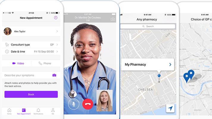 Babylon GP at Hand smartphone app screen snaps
