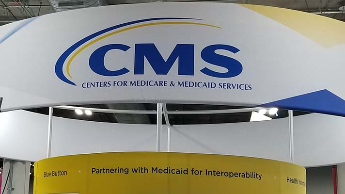 CMS booth at HIMSS18