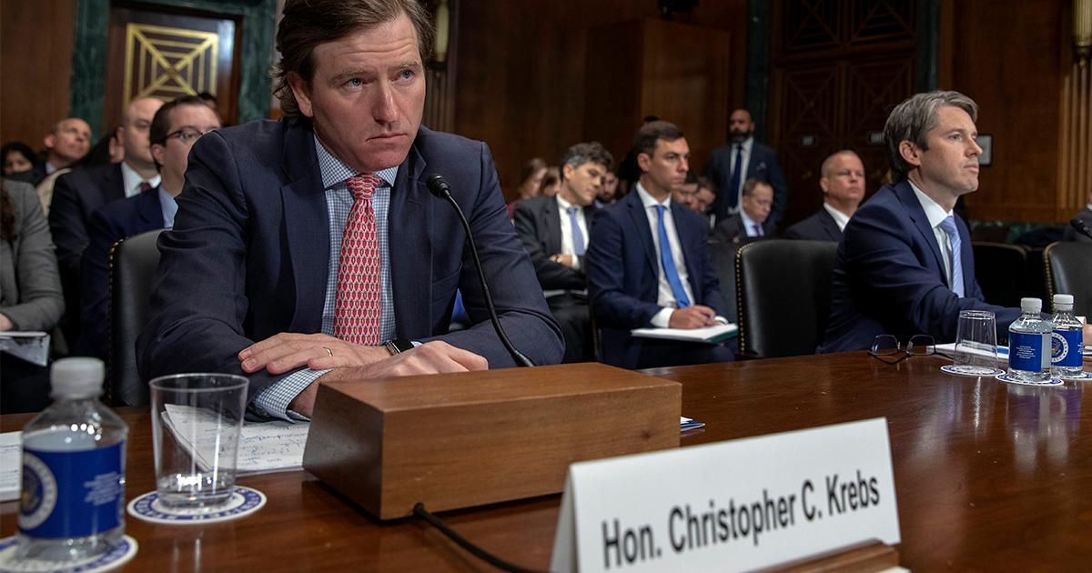 Christopher Krebs testifying