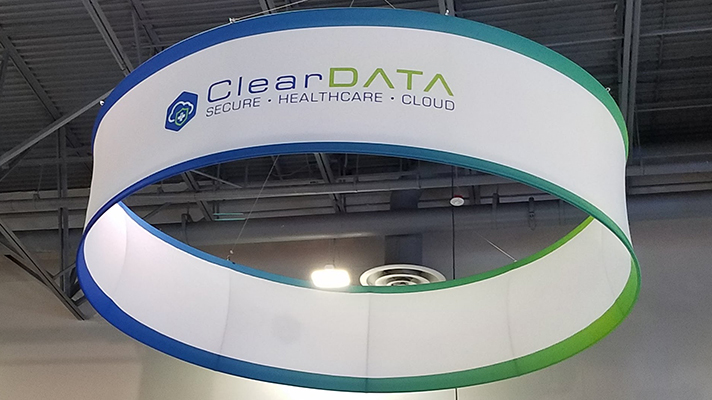 ClearData cloud security at HIMSS18 booth in Las Vegas