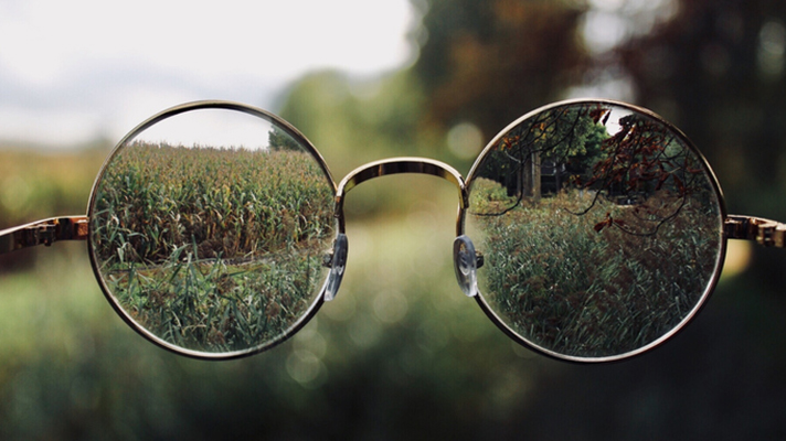 Glasses showing clearer vision.