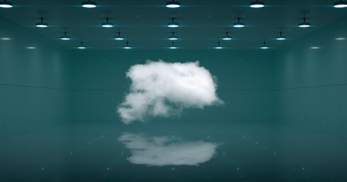 An artificial cloud in a room