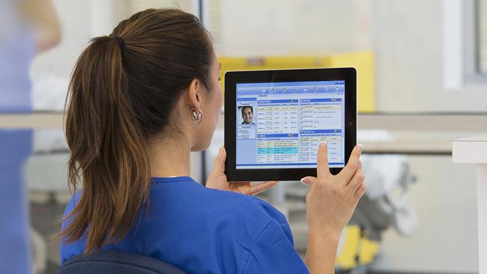Clinician EHR tablet
