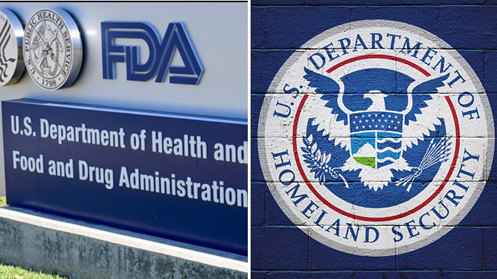 FDA and Homeland Security signs.