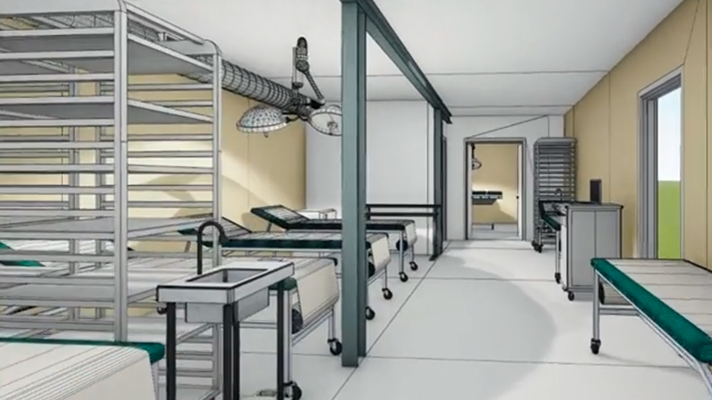 Field hospital of the future is self-powered, deployable by C-130 aircraft