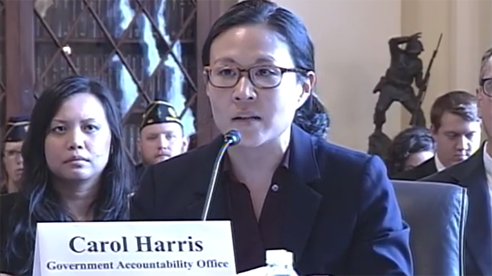GAO Carol Harris testifying at House VA hearing