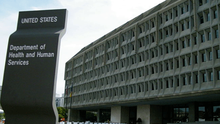 The Department of Health and Human Services building in Washington, DC.