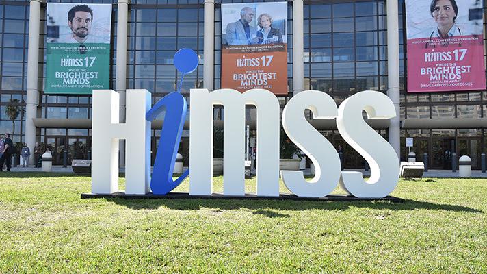 HIMSS sign.