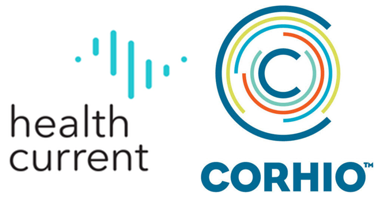 Health Current and CORHIO logos side by side