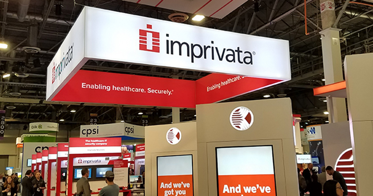 Imprivata HIMSS booth at a trade show