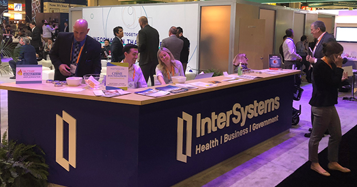 InterSystems trade show desk
