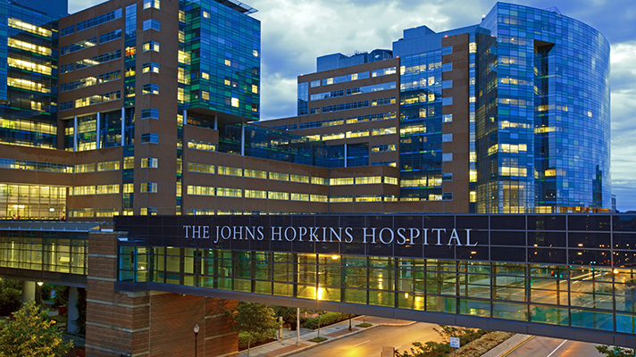 Johns Hopkins Hospital at night releases new computational method for precision medicine