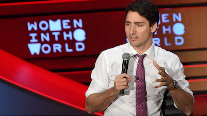 Canadian Prime Minister Justin Trudeau at Women in the World Summit