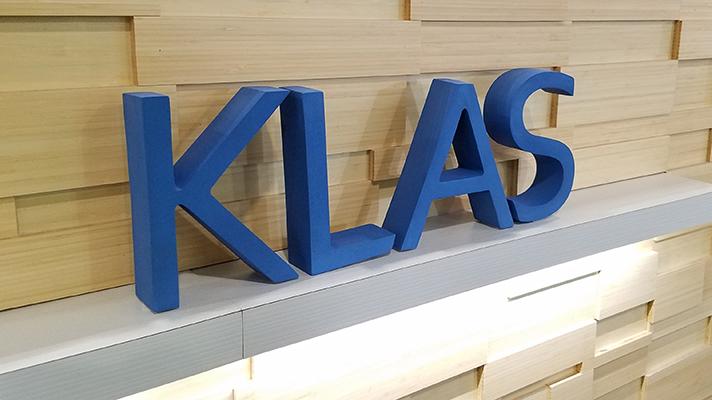 KLAS healthcare IT booth at HIMSS18