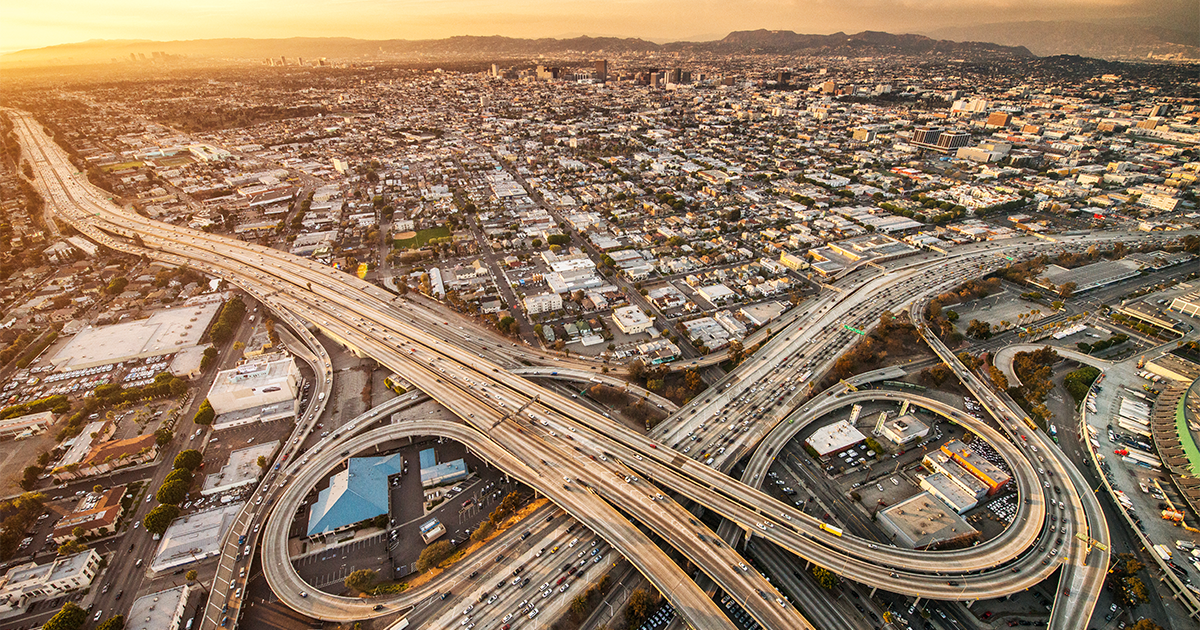 Los Angeles pictured from above