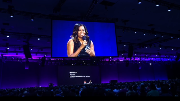 Michelle Obama at Apple's Worldwide Developers Conference