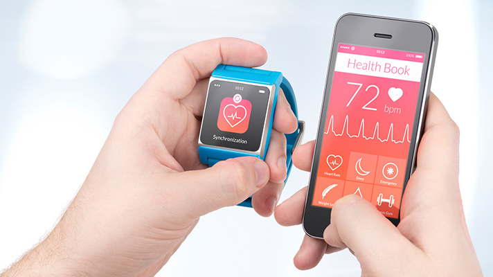 Fitness tracking device and app.
