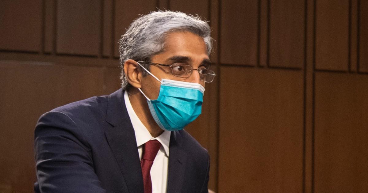 Vivek Murthy in a mask