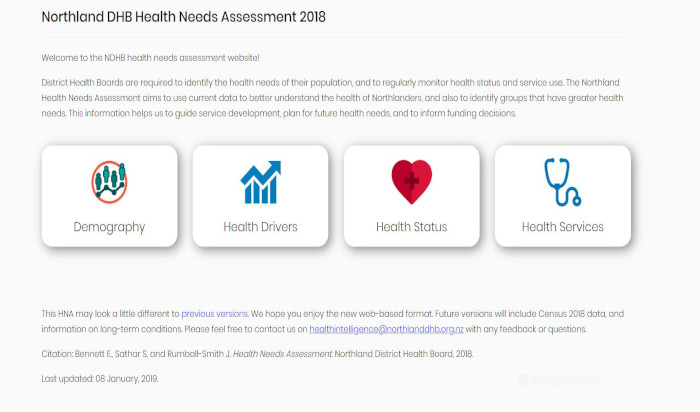 New Zealand's Northland DHB Health Needs Assessment tool