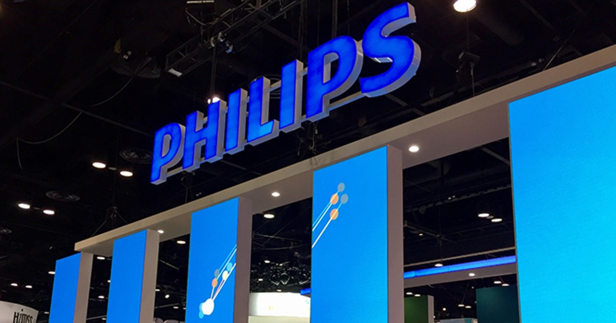 Philips' logo at a booth