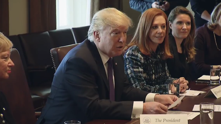 President Trump makes promises, offers kudos for women business owners, entrepreneurs