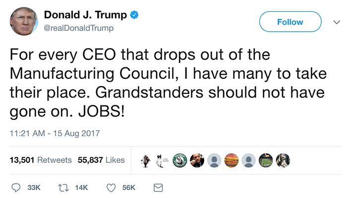 CEOs quit Trump manufacturing council