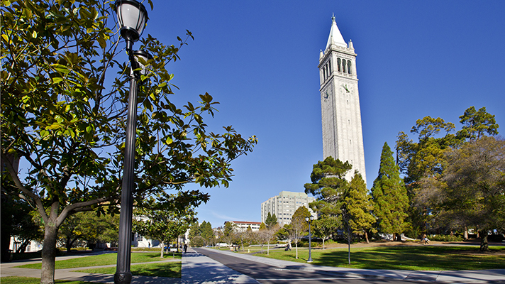 UC Berkeley tower on campus