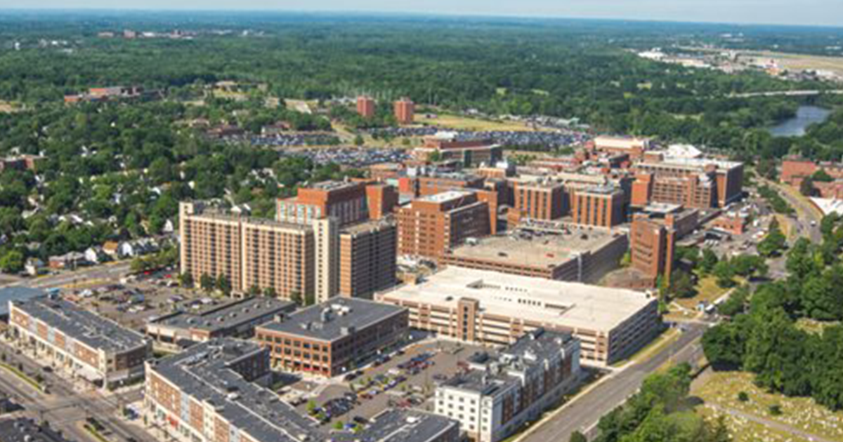 University of Rochester Medical Center complex from above