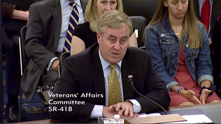 James Gfrerer testifying at the Senate Committee for Veterans Affairs