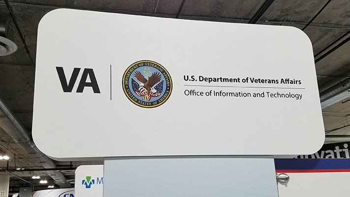 veterans affairs booth at HIMSS18