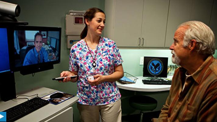 VA telehealth provider treating a veteran