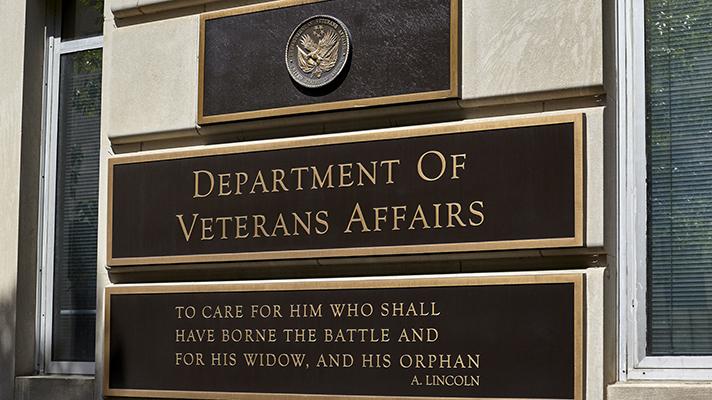 veterans affairs building sign