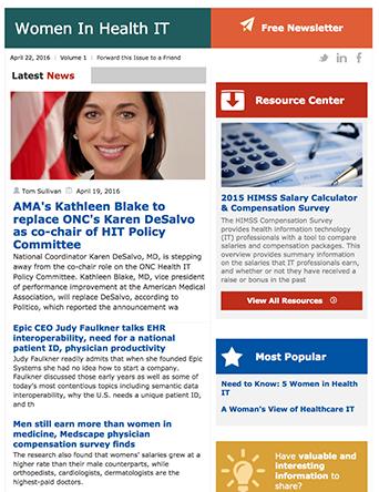 women in health it bi weekly newsletter healthcare it news