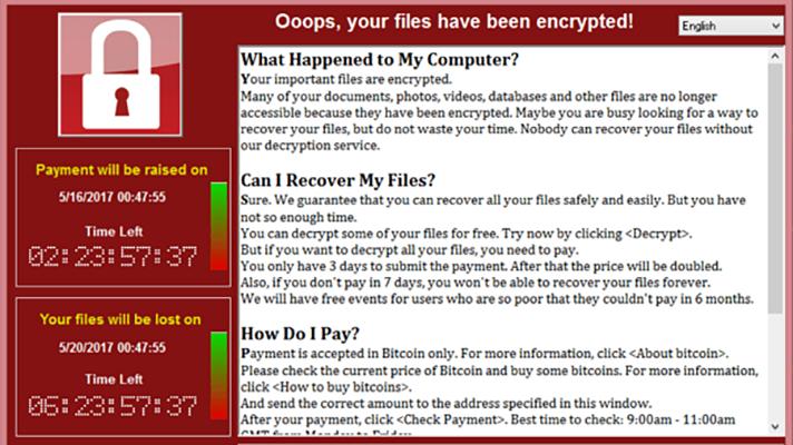 WannaCry cybersecurity National Health Service