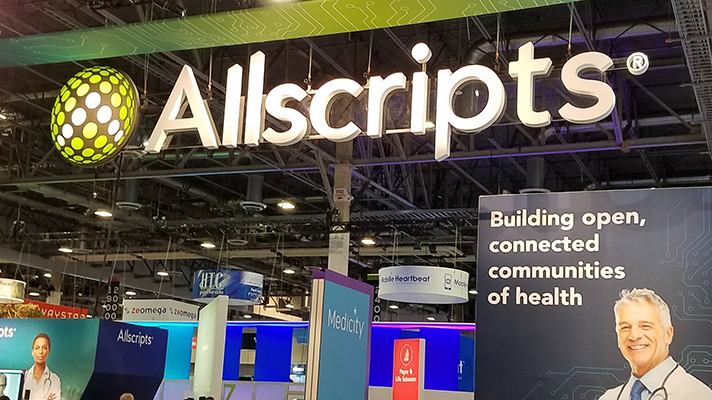 Allscripts HIMSS18 booth