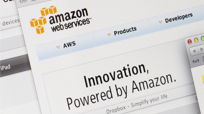 Amazon Web services website page