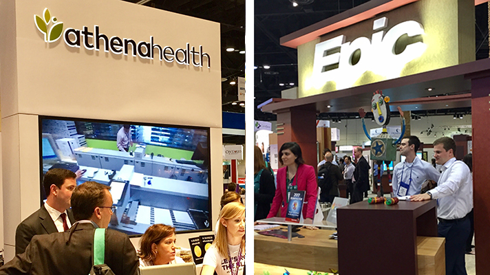 Epic and athenahealth outpatient EHRs
