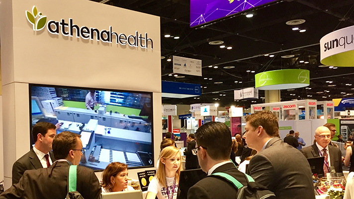 athenahealth booth at HIMSS17