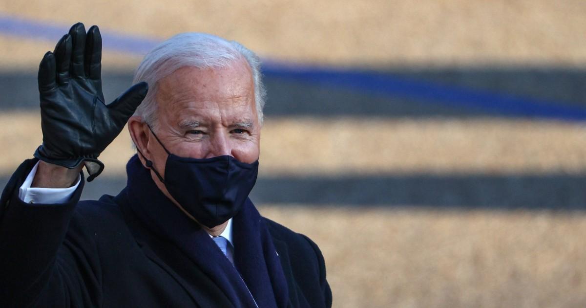 President Joe Biden in a mask