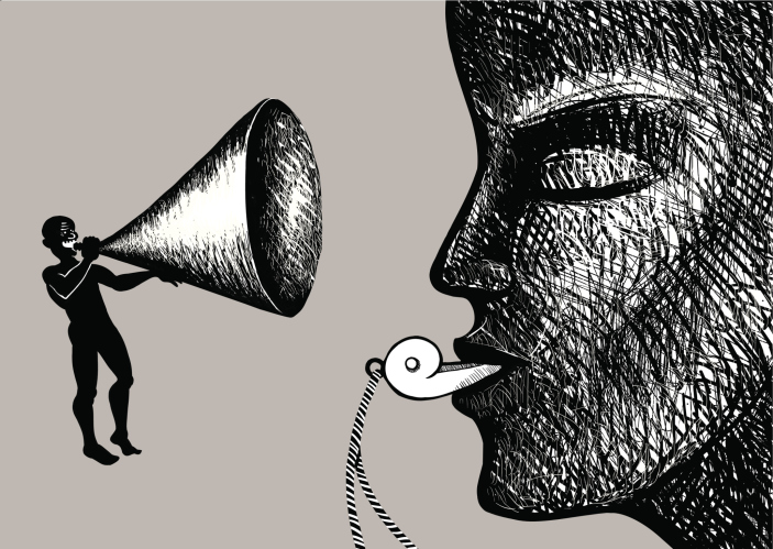 Megaphone and whistle
