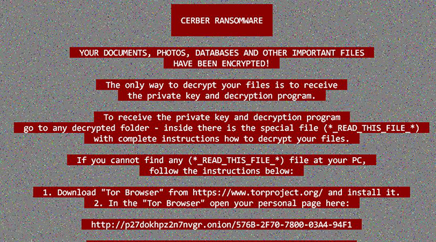 Updated Cerber ransomware can hide from machine learning tools