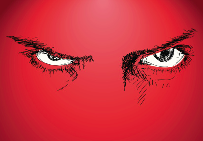 Illustration of angry eyes