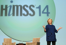 Clinton brings 'A' game to HIMSS14