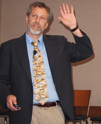 Larry Garber, MD, speaking at the Health IT Summit May 7